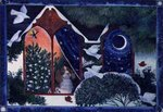 Christmas Window, 1995 Fine Art Print by Linda Benton