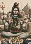 Shiva, c.1970 Postcards, Greetings Cards, Art Prints, Canvas, Framed Pictures, T-shirts & Wall Art by Shanti Panchal