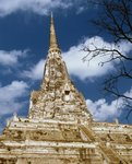 Chedi of Wat Phu Khao Thong Fine Art Print by Anonymous
