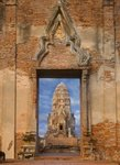 Ruins of the Viharn and F prang at Wat Ratchaburana Fine Art Print by Anonymous