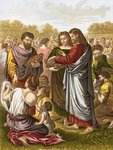 Christ feedeth the multitude Wall Art & Canvas Prints by Clive Uptton