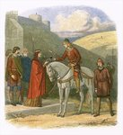 Edward murdered at Corfe Poster Art Print by English School