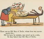 """There was an Old Man of Berlin, whose form was uncommonly thin"", from 'A Book of Nonsense', published by Frederick Warne and Co., London, c.1875 Fine Art Print by Edward Lear"