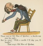 """There was an Old Man of Quebec- a beetle ran over his neck"", from 'A Book of Nonsense', published by Frederick Warne and Co., London, c.1875 Fine Art Print by Edward Lear"