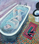 Dreaming in the Bath, 1991 Postcards, Greetings Cards, Art Prints, Canvas, Framed Pictures & Wall Art by Mary Stuart