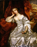 Portrait of Elizabeth Capel Countess of Carnarvon, c.1662 Wall Art & Canvas Prints by John Graham