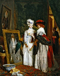 Critics on Costume, Fashions Change Fine Art Print by English School