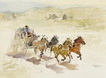 Pursuit Fine Art Print by Frederic Remington
