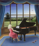 Playing Mozart Fine Art Print by Ruth Addinall