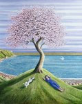 Dreaming of Cherry Blossom, 2004 Wall Art & Canvas Prints by Mary Stuart