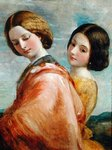 Two Young Women Walking Fine Art Print by Thomas Gainsborough
