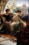 Unwelcome Confidence, 1895 (oil on panel) Wall Art & Canvas Prints by Sir Lawrence Alma-Tadema