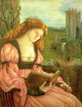 St. Barbara (tempera on paper) Wall Art & Canvas Prints by Dante Gabriel Rossetti