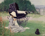 Sewing in the Sun, 1913 Fine Art Print by Pat Scott