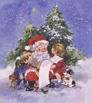 Father Christmas's List Postcards, Greetings Cards, Art Prints, Canvas, Framed Pictures, T-shirts & Wall Art by Linda Benton
