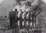 The burning of the Surrey Theatre, Sheffield, 1865 Fine Art Print by Gustave Dore
