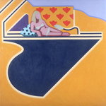 Poolside, 1967 Wall Art & Canvas Prints by P.J. Crook