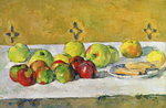 Apples and Biscuits, c.1877 Postcards, Greetings Cards, Art Prints, Canvas, Framed Pictures, T-shirts & Wall Art by Paul Cezanne