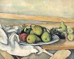 Still Life with Pears, c.1879-82 Wall Art & Canvas Prints by Paul Cezanne