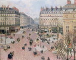 Place du Theatre Francais, Afternoon Sun in Winter, 1898 Fine Art Print by Camille Pissarro
