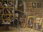 The Picture Gallery of Archduke Leopold Wilhelm Fine Art Print by Giovanni Paolo Pannini or Panini