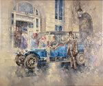 Outside the Ritz (oil on canvas) Postcards, Greetings Cards, Art Prints, Canvas, Framed Pictures & Wall Art by Peter Miller