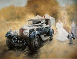 Bentley and Bride Fine Art Print by Peter Miller