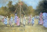 The Maypole Poster Art Print by Judy Joel