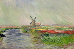 Tulip Field in Holland Fine Art Print by Alfred Sisley