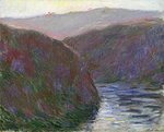The Creuse Valley, Evening Effect, 1889 Fine Art Print by Claude Monet