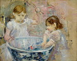 Children at the Basin, 1886 Postcards, Greetings Cards, Art Prints, Canvas, Framed Pictures & Wall Art by Mary Stevenson Cassatt