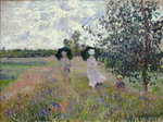 Promenade near Argenteuil, 1873 Poster Art Print by Claude Monet