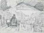 Sketch of the Interior of the Gare Saint-Lazare Fine Art Print by Claude Monet