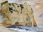 Cliffs of Etretat. The Pied du Cheval, 1838 Wall Art & Canvas Prints by Gustave Courbet