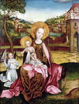 Virgin and Child Fine Art Print by Andrea Mantegna