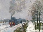 Train in the Snow or The Locomotive, 1875 Fine Art Print by Claude Monet