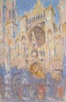 Rouen Cathedral, Effects of Sunlight, Sunset, 1892 Poster Art Print by Claude Monet