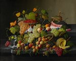 Abundant Fruit, 1858 (oil on canvas) Wall Art & Canvas Prints by Martin Schongauer