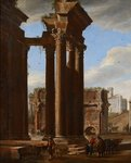 View in the Roman Forum, 1615 (oil on canvas) Wall Art & Canvas Prints by Rudolph von Alt