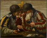 The Gamblers, 1623 (oil on canvas) Wall Art & Canvas Prints by Russian School