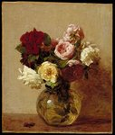 Roses, 1884 (oil on canvas) Fine Art Print by Ignace Henri Jean Fantin-Latour