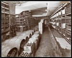 Wine cellar at the Hotel Knickerbocker, 1906 Fine Art Print by English School