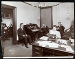 Hotel Records Office, New York, 1908 Fine Art Print by William Henry Hunt
