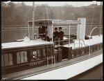 "View of the yacht ""Coronet"" of the New York Yacht, Launch & Engine Co. on the Harlem River, New York, 1905 Wall Art & Canvas Prints by Cuban Photographer"