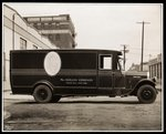 An Aeolian Company Pierce Arrow delivery truck at 711 East 139th Street, Harlem, New York, 1926 Wall Art & Canvas Prints by American School