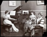 Piano recital, New York, 1907 Wall Art & Canvas Prints by Byron Company