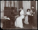 Player piano recital, New York, 1907 Wall Art & Canvas Prints by Byron Company