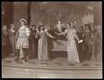 A scene from an amateur production of an unidentified play presented at Barnard College, New York Wall Art & Canvas Prints by Byron Company