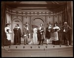 "A scene from an amateur production of a play titled ""Le Medecin Malgre Lui"" presented at Barnard College, New York Fine Art Print by Byron Company"