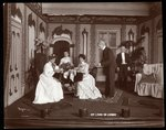 "A scene from an amateur production of a play titled ""My Lord in Livery"" Fine Art Print by Byron Company"